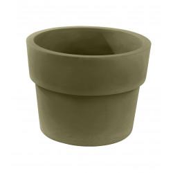 Pot Vaso diamètre 80 x hauteur 61 cm, simple paroi, Vondom kaki