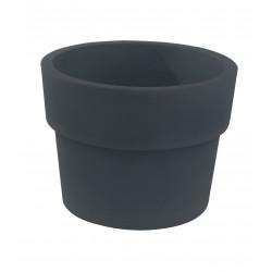 Lot de 2 Pots Vaso diamètre 60 x hauteur 46 cm, simple paroi, Vondom gris anthracite