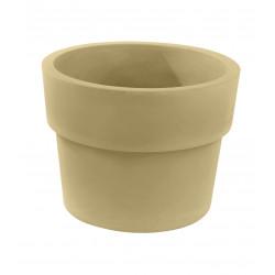 Lot de 2 Pots Vaso diamètre 60 x hauteur 46 cm, simple paroi, Vondom beige