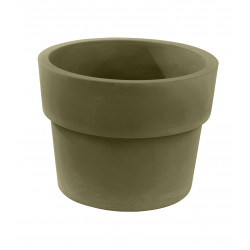 Lot de 2 Pots Vaso diamètre 60 x hauteur 46 cm, simple paroi, Vondom kaki