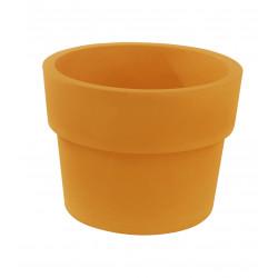 Lot de 2 Pots Vaso diamètre 60 x hauteur 46 cm, simple paroi, Vondom orange