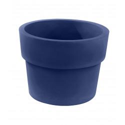 Lot de 2 Pots Vaso diamètre 60 x hauteur 46 cm, simple paroi, Vondom bleu marine