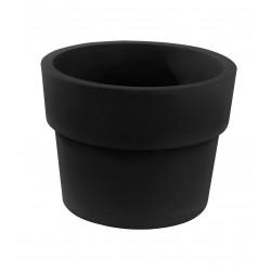 Lot de 2 Pots Vaso diamètre 60 x hauteur 46 cm, simple paroi, Vondom noir