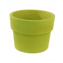 Lot de 2 Pots Vaso diamètre 60 x hauteur 46 cm, simple paroi, Vondom vert pistache