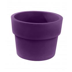 Lot de 2 Pots Vaso diamètre 60 x hauteur 46 cm, simple paroi, Vondom violet prune
