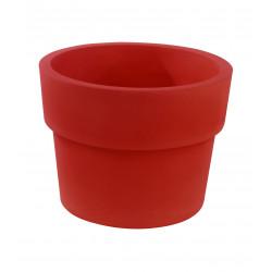 Lot de 2 Pots Vaso diamètre 60 x hauteur 46 cm, simple paroi, Vondom rouge