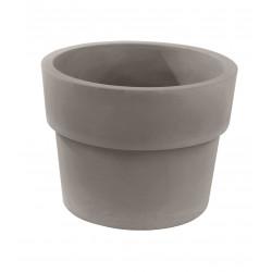 Lot de 2 Pots Vaso diamètre 60 x hauteur 46 cm, simple paroi, Vondom taupe