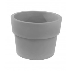 Lot de 2 Pots Vaso diamètre 50 x hauteur 38 cm, simple paroi, Vondom gris argent