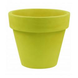 Lot de 2 Pots Maceta diamètre 60 x hauteur 52 cm, simple paroi, Vondom vert pistache