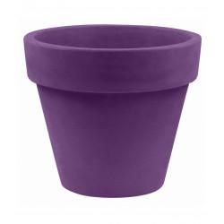 Lot de 2 Pots Maceta diamètre 60 x hauteur 52 cm, simple paroi, Vondom violet prune