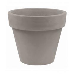 Lot de 2 Pots Maceta diamètre 60 x hauteur 52 cm, simple paroi, Vondom taupe