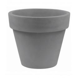 Pot Maceta diamètre 80 x hauteur 69 cm, simple paroi, Vondom gris argent