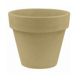 Pot Maceta diamètre 80 x hauteur 69 cm, simple paroi, Vondom beige