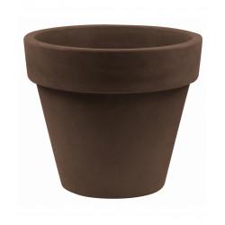 Pot Maceta diamètre 80 x hauteur 69 cm, simple paroi, Vondom bronze