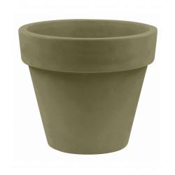 Pot Maceta diamètre 160 x hauteur 138 cm, simple paroi, Vondom kaki