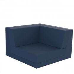 Canapé composable outdoor Pixel, module d'angle bleu marine, Vondom, tissu Glad Eclipse 1023
