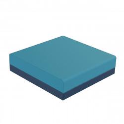 Pouf canapé outdoor design Pixel bleu marine, Vondom, tissu Glad Aquamarina 1003