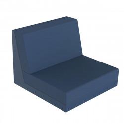 Salon de jardin Pixel, module central haut dossier H77cm bleu marine, Vondom, tissu Glad Eclipse 1023