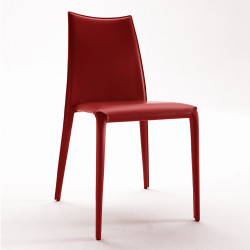 Chaise design Miss, Midj rouge