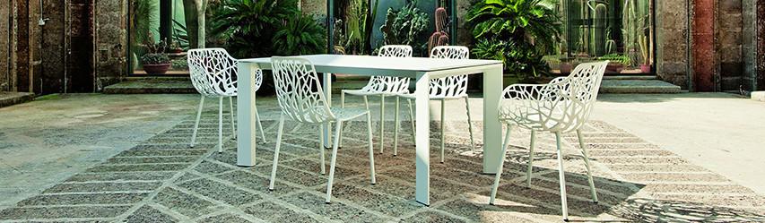 Table & Chaise de jardin