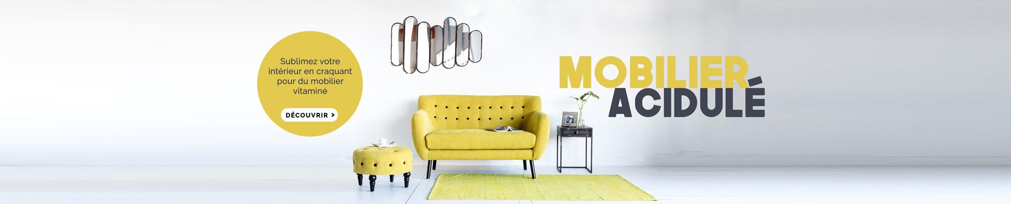 Mobilier acidulé jaune